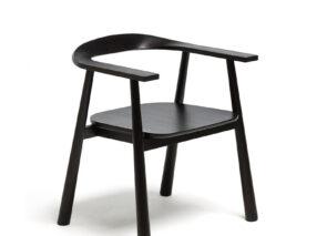 David design Zwart houten stoeltje Haida