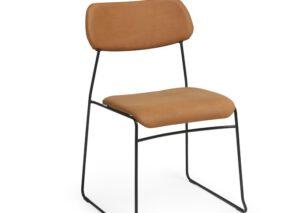 David design lean kantoorstoeltje met slede onderstel