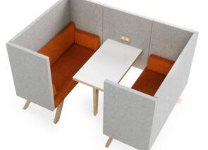 TOOaPICNIC Hide modern volmgegeven open overleg unit met tafeltje