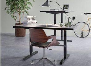 Steelforce 300 sta zit bureau met zwart onderstel