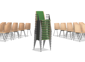 Caliber kerkstoel - zaalstoel stapelbaar