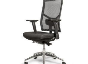 Comfortabele bureaustoel met in hoogte verstelbare rug