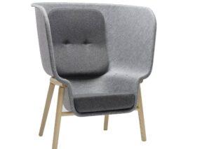 De Vorm Privacy Chair - refelt -concentratie fauteuil