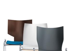 Lynx zaalstoel - kerkstoel casala optioneel met bijbelhouder leverbaar