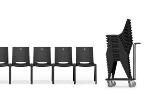 Monolink lichtgewicht kunststof stoel - stapelbaar en koppelbaar