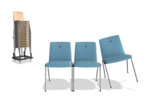 caliber koppelbare zaalstoel - kerkstoel