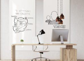 Chameleon Whiteboards Sharp passen in elke kantoorstijl