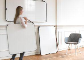 Chameleon Writing - draagbaar whiteboard met lederen draagband