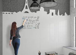 Chameleon whiteboard wand met gepersonaliseerde uitsnede aan bovenzijde